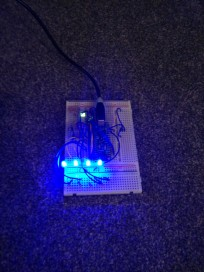 LED breadboard testing (brighter)